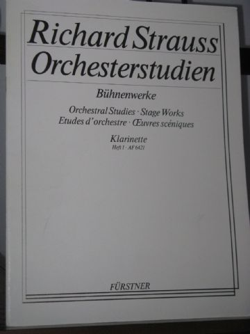Strauss R - Orchestral Studies - Stage Works Clarinet Vol 1